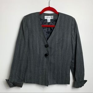 Vintage Christian Dior Blazer 8 Grey Jacket Medium